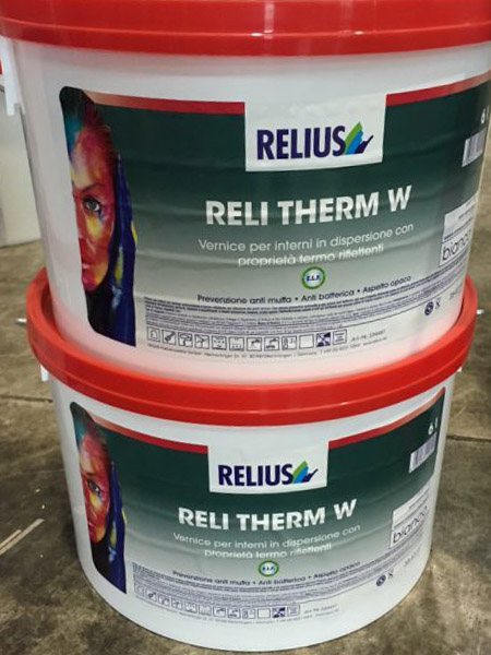 Reli Therm W Relius - Vernice per interni in dispersione con proprietà termo riflettenti
