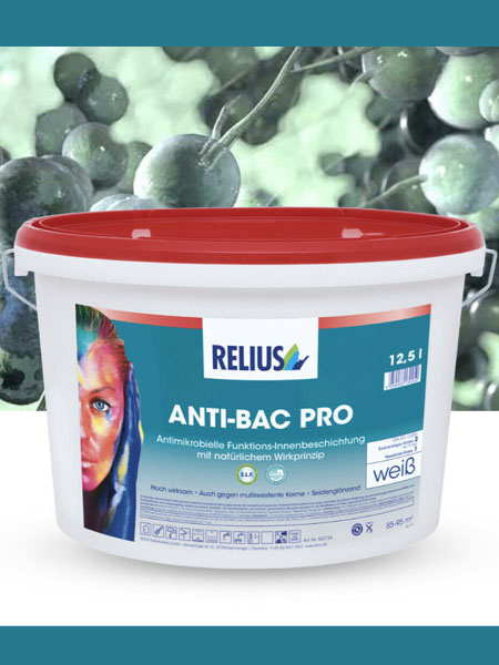 Anti-Bac Pro pittura antibatterica, antimicrobica, anti virus funghi 12,5lt