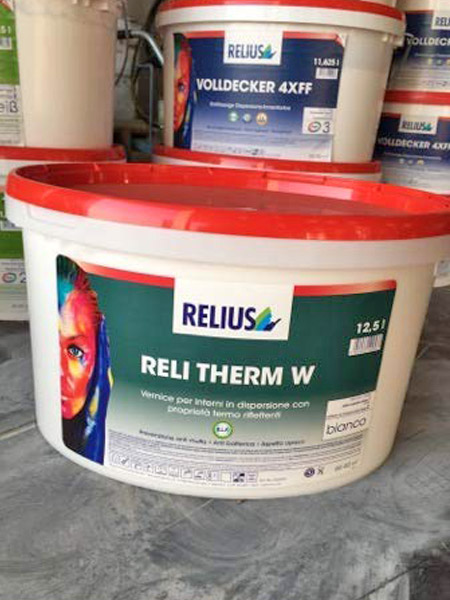 Reli Therm W Relius - Vernice per interni in dispersione con proprietà termo riflettenti 12,5 lt